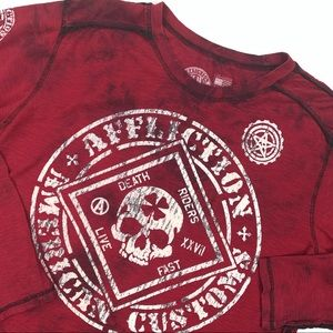 Affliction American Customs Graphic TieDye L/S Tee